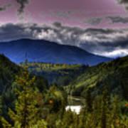 Cascades View Art Print