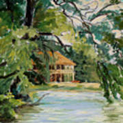 Cascadilla Boathouse Ithaca New York Art Print by Ethel Vrana