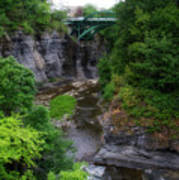 Cascadilla Gorge Cornell University Ithaca New York 01 Art Print