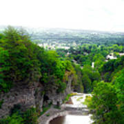 Cascadilla Gorge Cornell University Ithaca New York Panorama Art Print