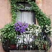 Cascading Floral Balcony Art Print