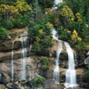 Cascading Skagway Waterfall  Art Print