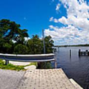 Casey Key Swing Bridge Open For Boats Art Print