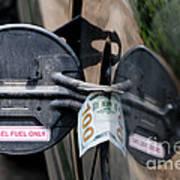 Cash In Truck Fuel Tank Fill Spout Art Print