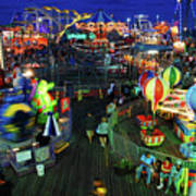 Casino Pier At Seaside Heights Art Print