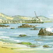Casitas Pier II Art Print