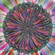 Cassandra -- Floral Disk Art Print
