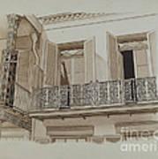 Cast Iron Balcony Rail Art Print