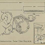 Cast Iron Urn Holder Art Print