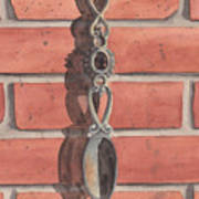 Cast Iron Welsh Love Spoon Two Art Print