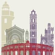 Castellon Skyline Poster Art Print