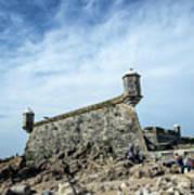 Castelo Do Queijo Old Fort Landmark In Porto Portugal Art Print