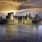 Castle At Dawn Art Print
