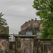Castle Behind Cemetery Art Print