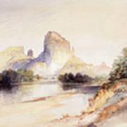 Castle Butte, Green River, Wyoming Art Print