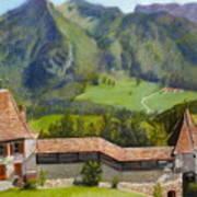 Castle Gruyere Swiss Art Print