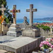 Castle Hill Graves Overlooking Nice, France Art Print