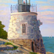 Castle Hill Light Newport Ri Art Print