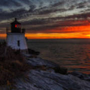 Castle Hill Lighthouse Sunset Art Print