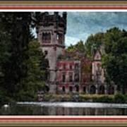Castle Kapadia. L B With Decorative Ornate Printed Frame. Art Print