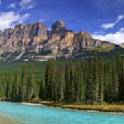 Castle Mountain Banff The Canadian Rockies Art Print