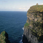 Castle On The Cliffs Of Moher Art Print