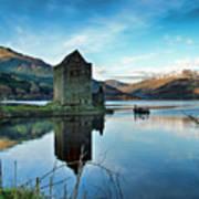 Castle On The Loch Art Print