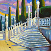 Castle Patio 1 Art Print by Milagros Palmieri