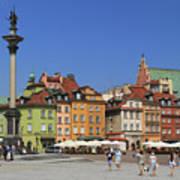 Castle Square And Sigismund's Column Warsaw Poland Art Print