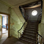 Castle Stairs - Abandoned Building Art Print