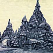 Castles On The Beach Art Print