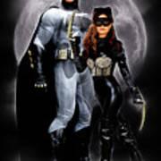 Cat And Bat Art Print