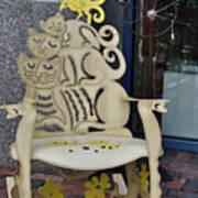 Cat Chair Art Print