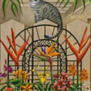 Cat Cheetah's Fence Art Print