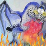 Cat Dragon Art Print