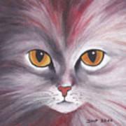 Cat Eyes Red Art Print