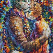 Cat Hug   Art Print