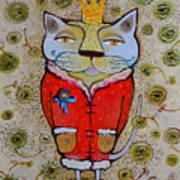 Cat-king Art Print
