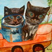 Cat Mischief Art Print