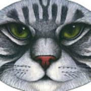 Cat Oval Face Art Print