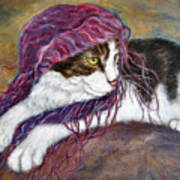 Cat Painting  Charlie The Pirate Art Print