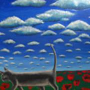 Cat Who Walks Alone Art Print