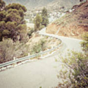 Catalina Island Mountain Road Picture Art Print