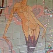 Catalina Tile Mermaid Art Print
