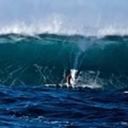 Catching A Big Wave, North Shore, Oahu Art Print