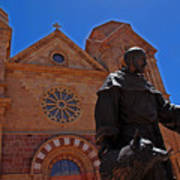 Cathedral Basilica In Santa Fe Art Print