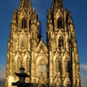 Cathedral In Cologne  Art Print