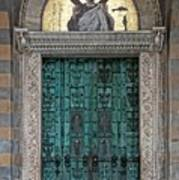 Cathedral Of Amalfi Door Art Print