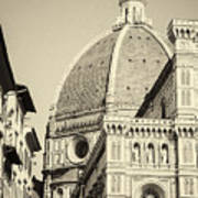 Cathedral Of Brunelleschi In Florence Art Print