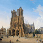 Cathedral Of Notre-dame At Reims Art Print